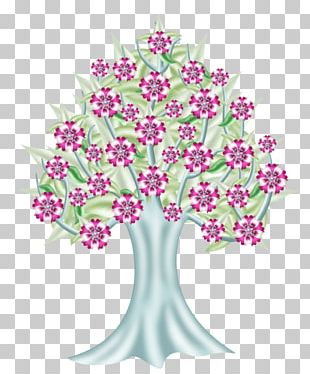 Floral Design Pink Tree Cut Flowers Drawing PNG