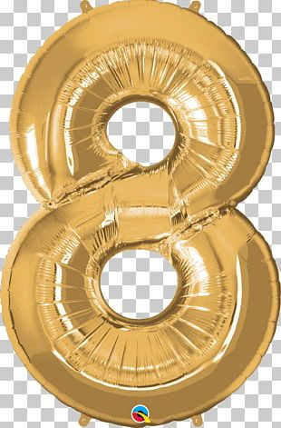 Balloon Children's Party Birthday Gold PNG