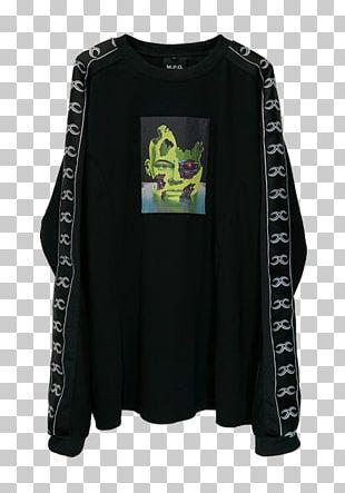 Sleeve South Korea T-shirt Black White PNG