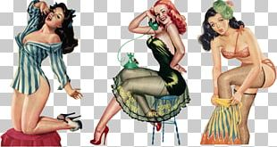 Pin-up Girl Vintage Clothing Retro Style Rockabilly Art PNG