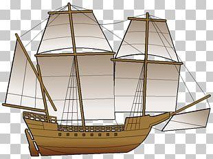 Sail Brigantine Clipper Ship Of The Line Galleon PNG