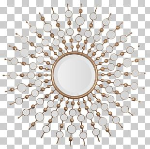 Mirror Metal Wall Sunburst Starburst PNG