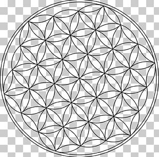 Overlapping Circles Grid Symbol Sacred Geometry PNG