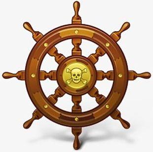 Pirate Ship Steering Wheel PNG