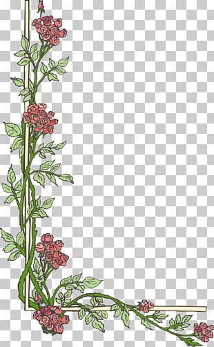Flower Page Border PNG Images, Flower Page Border Clipart