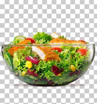 Hamburger Caesar Salad Veggie Burger Vegetarian Cuisine Chicken Salad PNG