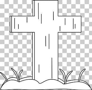 Drawing Line Art Cross Black And White Monochrome PNG