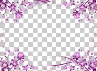 Borders And Frames Frames Flower Purple PNG