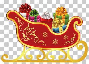 Santa Claus's Reindeer Sled Santa Claus's Reindeer PNG