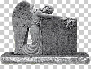 Headstone Angel Of Grief Memorial Monument Cemetery PNG