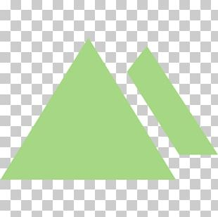 Equilateral Triangle Shape Green PNG