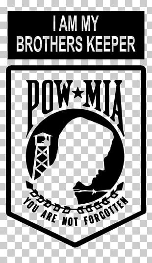 National League Of Families POW/MIA Flag Missing In Action Prisoner Of War Killed In Action Decal PNG