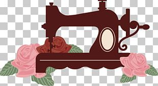 Sewing Machine Silhouette PNG