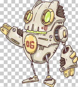 Robot Drawing Coloring Book Vecteur PNG