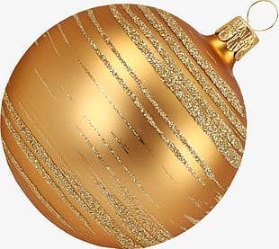 Golden Christmas Ball PNG