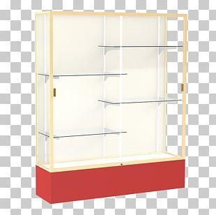Display Case Glass Shelf Poly Box PNG