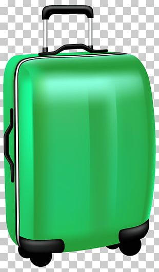 Green Trolley Travel Bag Transparent PNG