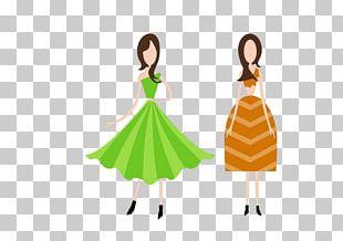 Cartoon Fashion Woman Illustration PNG