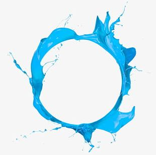 Blue Circle Paint PNG