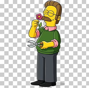 Ned Flanders Krusty The Clown Homer Simpson Marge Simpson Bart Simpson PNG