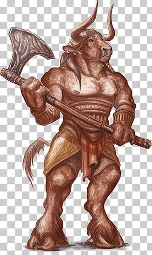 Minotaur Holding Axe PNG
