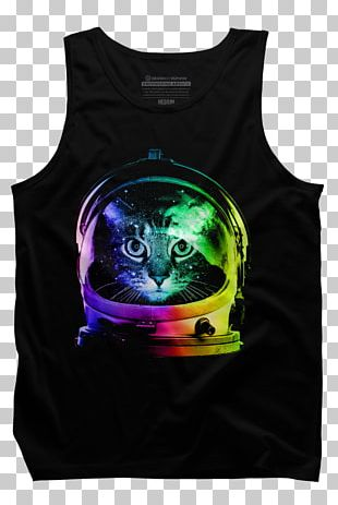 T-shirt Cat Kitten Astronaut Outer Space PNG