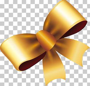 Ribbon Gold Gift PNG