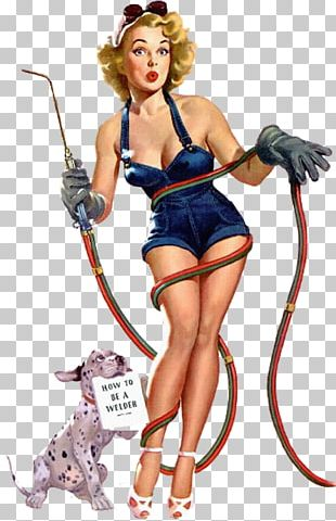 Pin-up Girl Welding Welder Decal Woman PNG