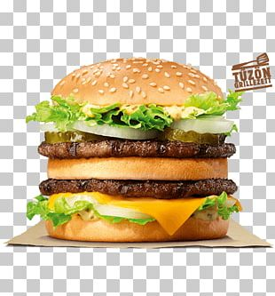 Big King Whopper Hamburger Cheeseburger Burger King PNG