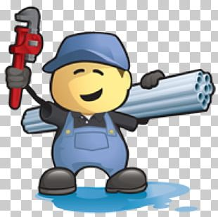 Cartoon Five Star Plumbing Services Plumber Construction Worker PNG