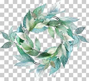 Leaf Flower Wreath PNG