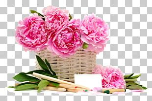 Pink Flowers Basket Rose Desktop PNG