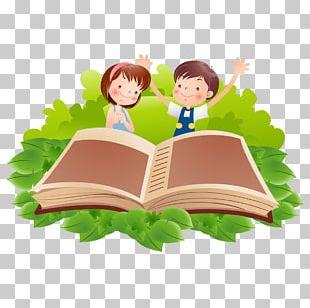 Reading Book Cartoon PNG