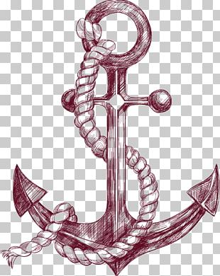 Anchor Drawing Banner Illustration PNG