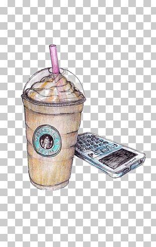 Coffee Latte Milkshake Starbucks Drawing PNG