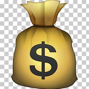 Emoji Money Bag Credit Card United States Dollar PNG