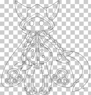Whiskers Cat Line Art Drawing White PNG