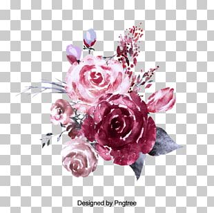 Garden Roses Watercolor Painting Flower PNG