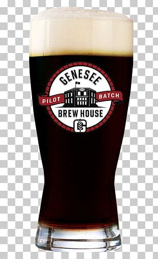 Beer Genesee Brewing Company Genesee River Stout Pint Glass PNG