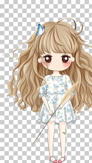 Girl Cartoon Cuteness Drawing Illustration PNG
