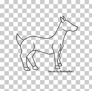 Mustang Pony Mammal Cattle Drawing PNG