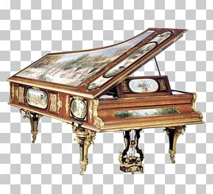 Musical Instruments Grand Piano Marquetry PNG