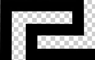 White Brand Logo Square PNG