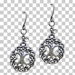 Earring Silver Body Jewellery Tree Of Life PNG