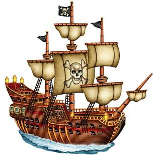 Sailing Ship Piracy PNG