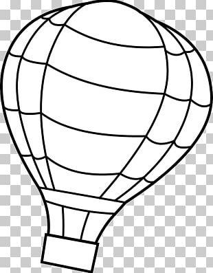 Coloring Book Hot Air Balloon Drawing PNG