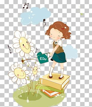 Cartoon Child Girl Illustration PNG