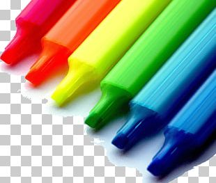 Marker Pen Colored Pencil Highlighter Colored Pencil PNG