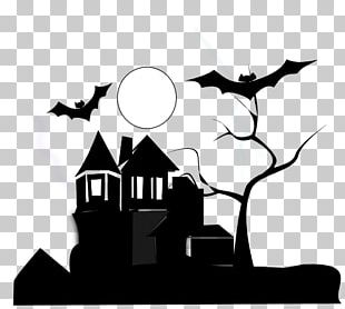 White House Haunted Attraction Black And White PNG