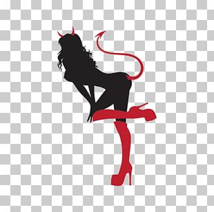 Decal Lucifer Sticker Devil Woman PNG